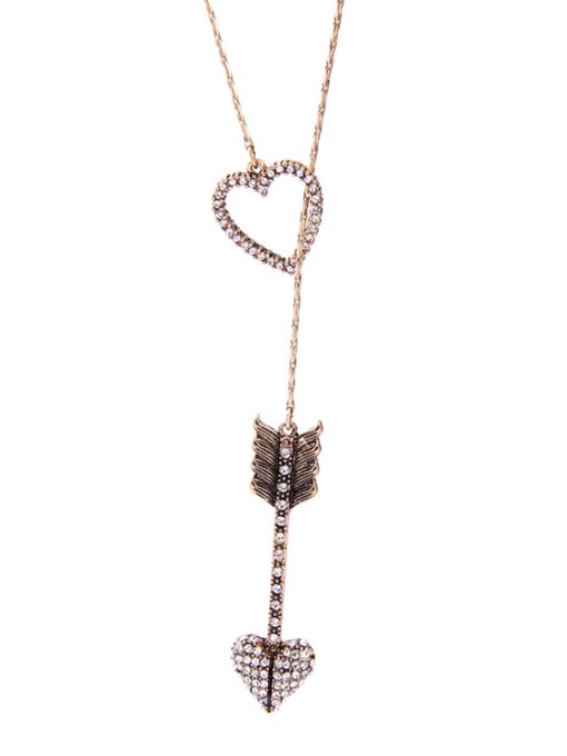 KM Heart Arrow Shaped Accessories Necklace 1
