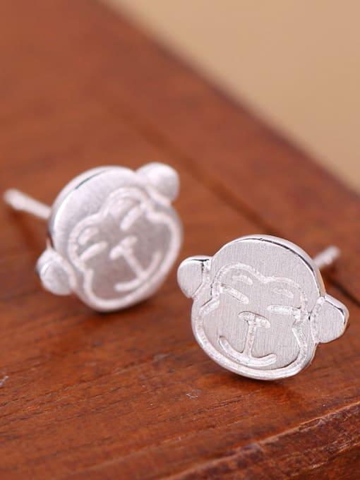 Peng Yuan Lovely Monkey Silver stud Earring 2