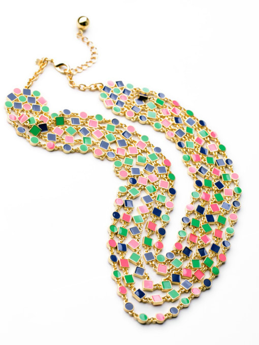 KM Luxury Multi-layer Lady's Necklace 1