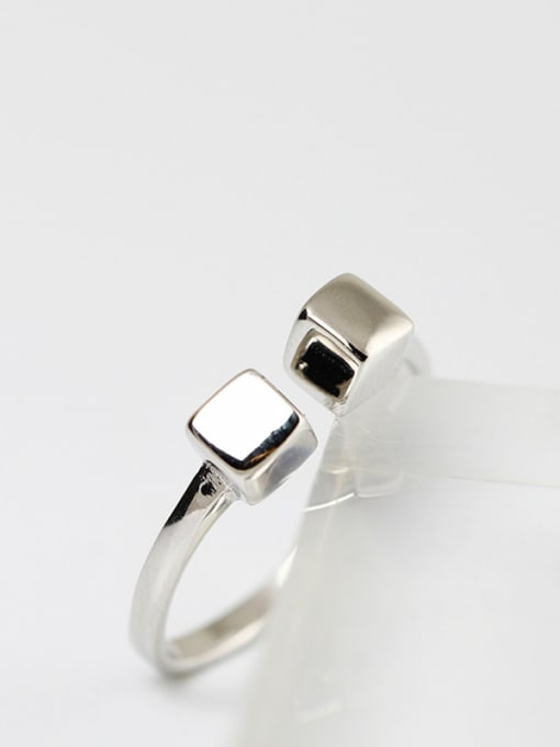 SILVER MI Shining Simple Style Opening Ring 1