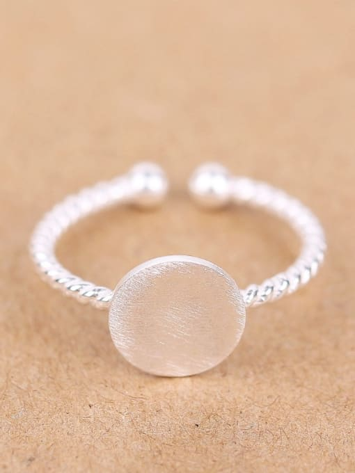 Peng Yuan Round shaped Twisted Opening Signet Ring