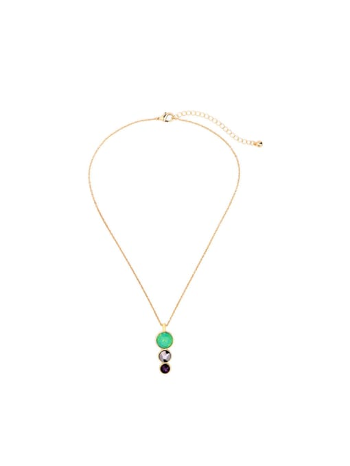 KM Women Simple Style Short Necklace 0