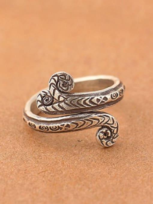 Peng Yuan Retro Snake Handmade Thai Silver Ring