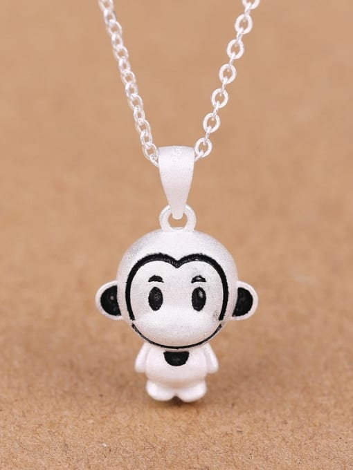 Peng Yuan Lovely Monkey Silver Women Necklace 0