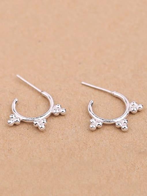 Peng Yuan Simple Tiny Beads Stack Stud hoop earring 0