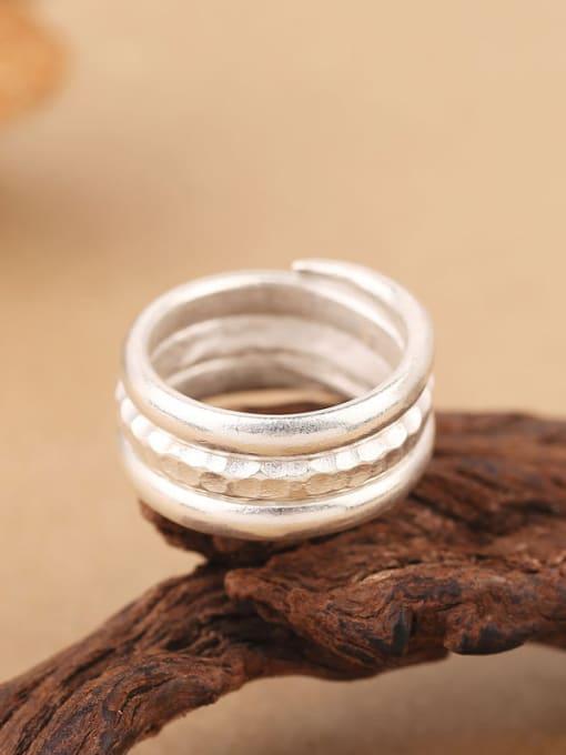 Peng Yuan Simple Sterling Silver Handmade Ring 2