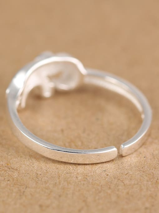 Peng Yuan Simple Little Elephant Opening Midi Ring 1