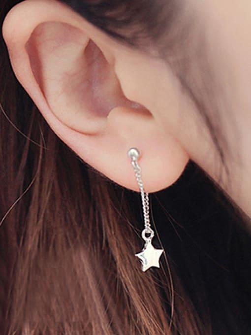 Peng Yuan Simple Five-pointed Star Stud Earrings 2