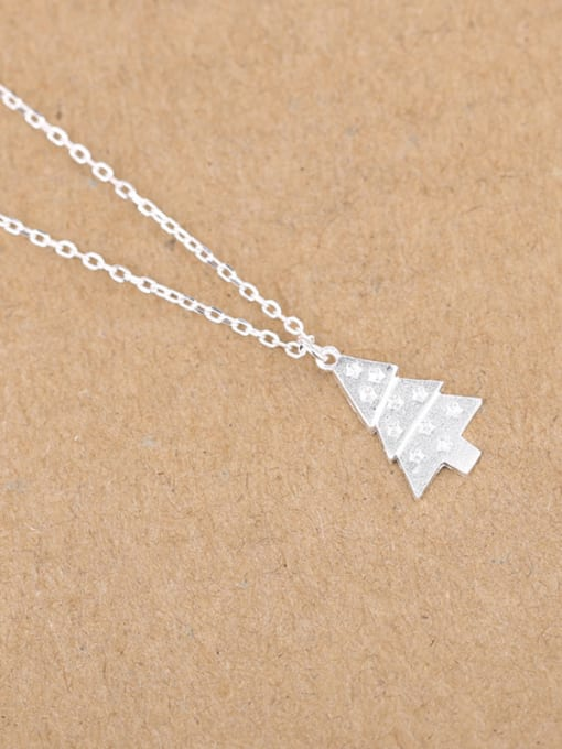 Peng Yuan Tiny Christmas Tree Silver Necklace 2
