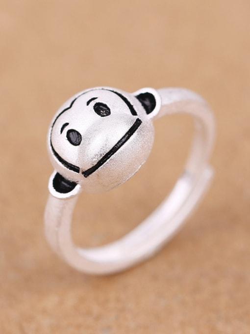 Peng Yuan Lovely Zodiac Monkey Silver Ring 2