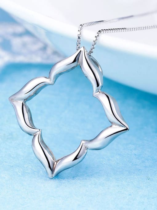One Silver 925 Silver Platinum Plated Pendant 2