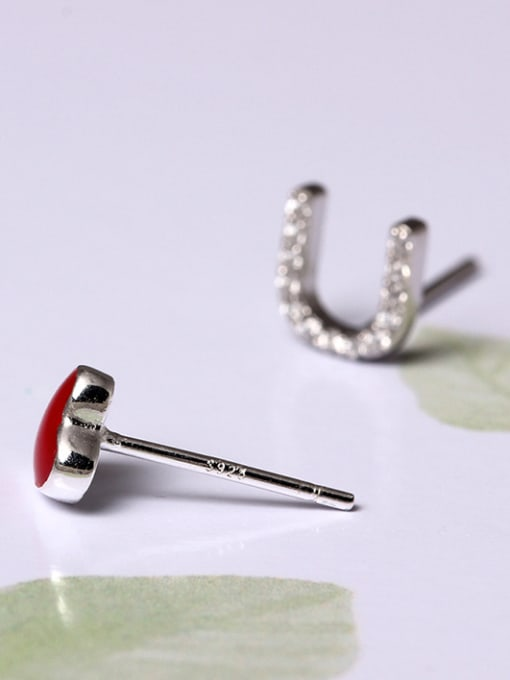 SILVER MI Sweet Love S925 Silver stud Earring 2