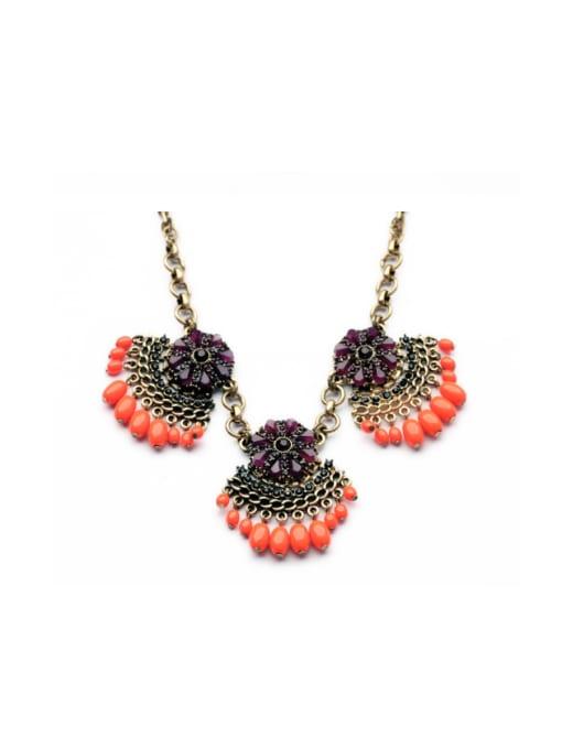 KM Luxury Leave-shape Women Necklace