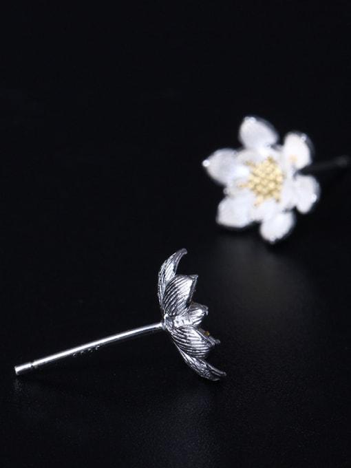 SILVER MI Fashionable Flower Women stud Earring 2