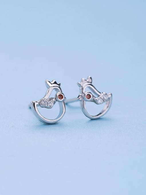 One Silver Cute Bird Shaped Stud cuff earring