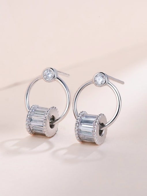 One Silver All-match Geometric Shaped Stud drop earring 2