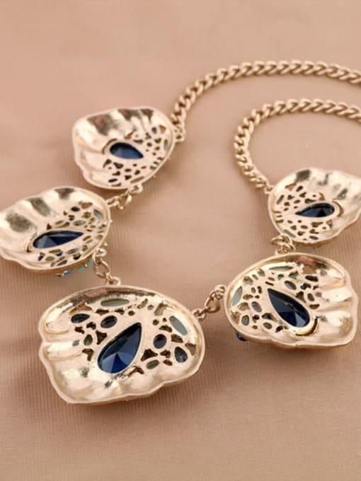 KM Exaggerate Geometric Stones Women Necklace 1