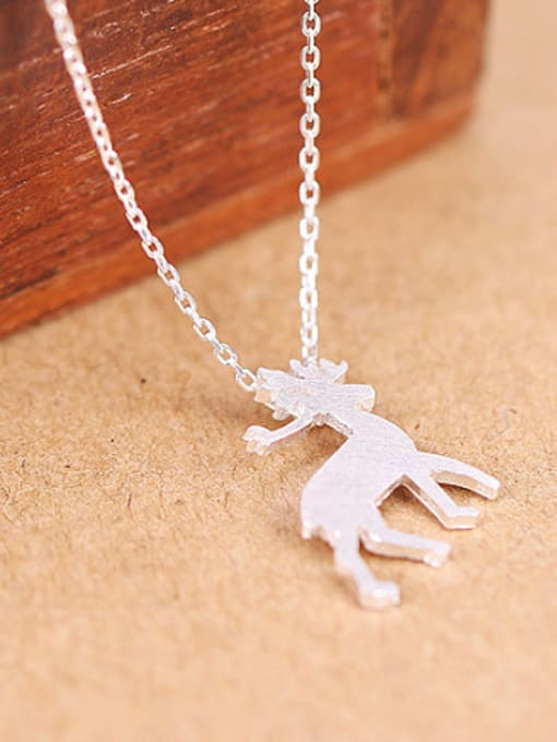 Peng Yuan Fashion Mini-deer Silver Necklace 2
