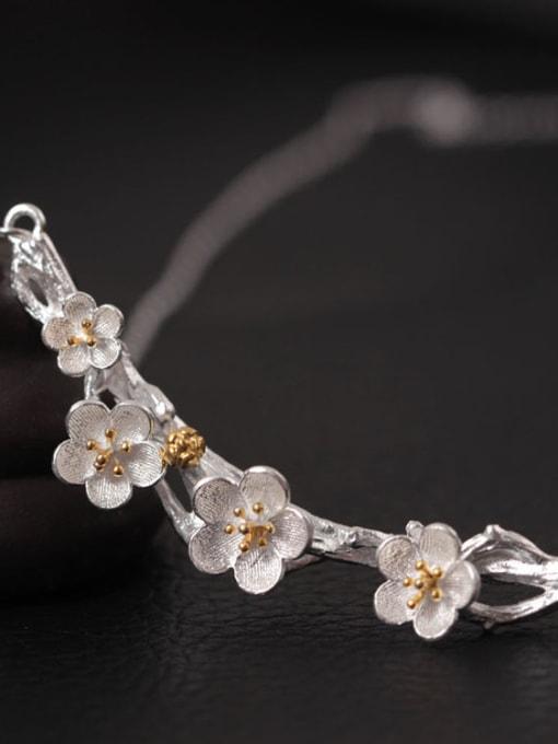 SILVER MI Plum Blossom Women Accessories Necklace 2