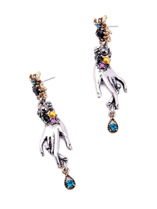 KM Exaggerated Spider-shape Stud drop earring 1