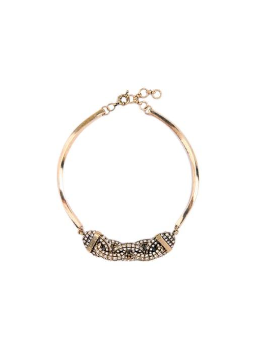 KM Rhinestones Personality Fashion Necklace 0
