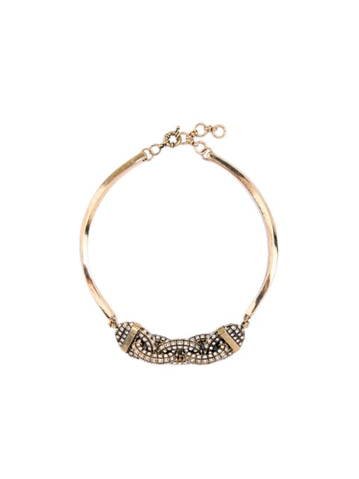 KM Rhinestones Personality Fashion Necklace