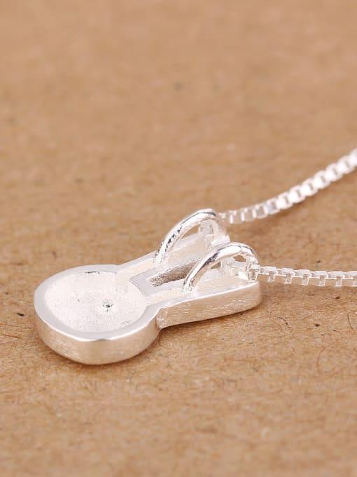Peng Yuan Simple Bunny Silver Plated Pendant 1