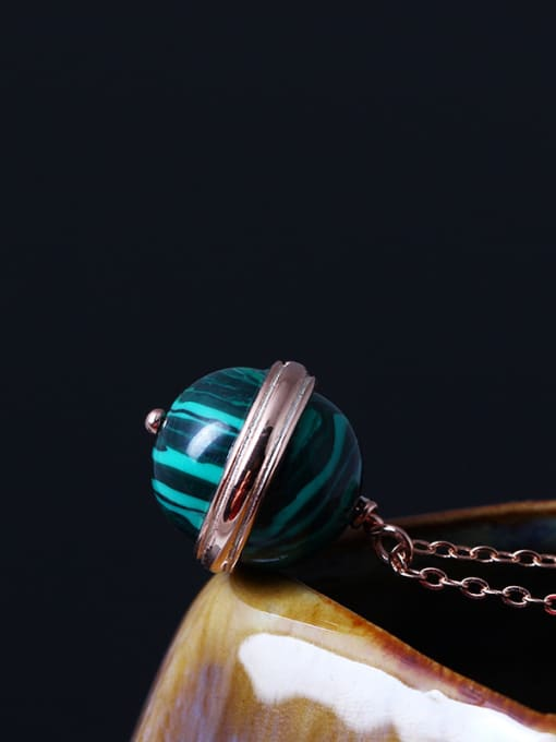 SILVER MI Rose Gold Plated Ball Necklace 1