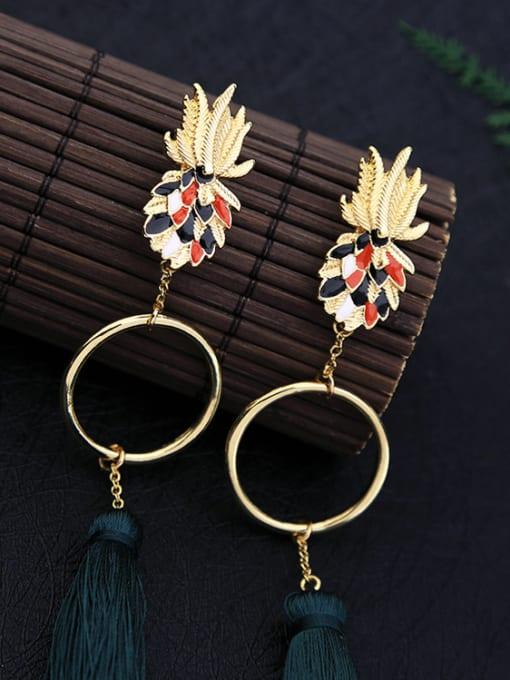 KM Retro Long Tassel Drop Chandelier earring 2