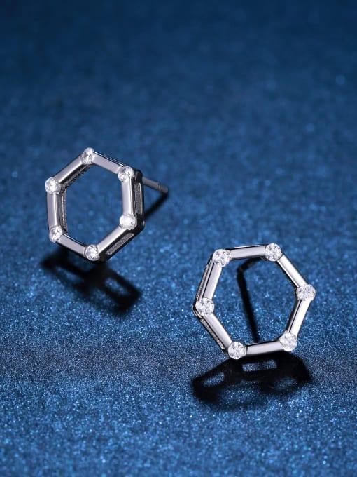 One Silver Women 925 Silver Elegant stud Earring 0