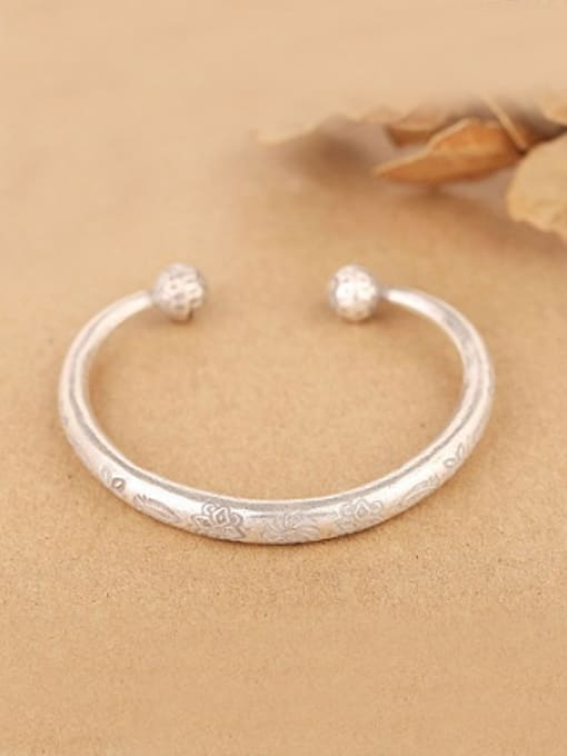 Peng Yuan Retro style Handmade Opening Bangle