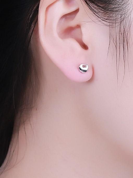 One Silver 925 Silver Cloud Shaped stud Earring 1