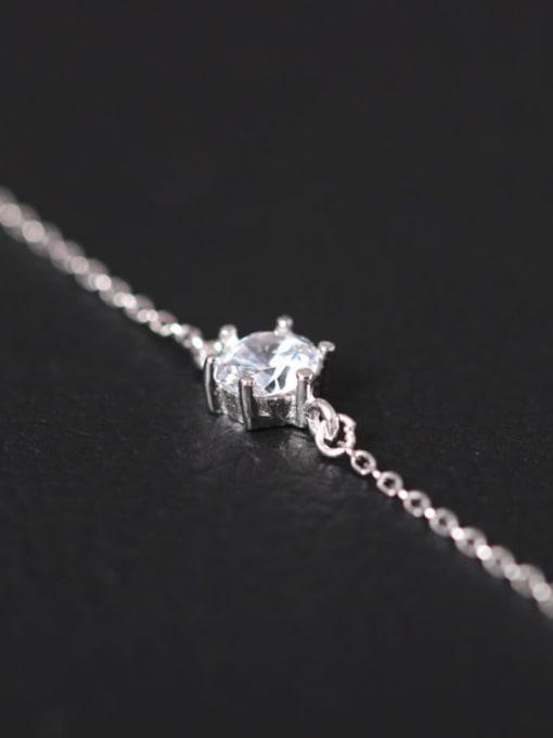 SILVER MI Temperament Shining Zircon Women Bracelet 0