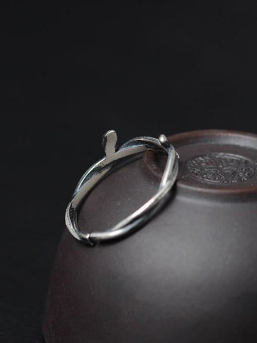 SILVER MI Women Rattan-shape Opening Ring 2