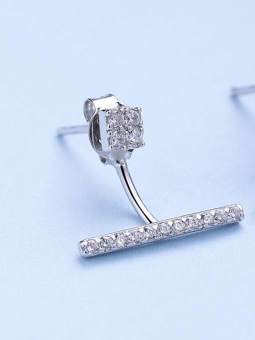 One Silver 925 Silver Temperament Zircon cuff earring 2
