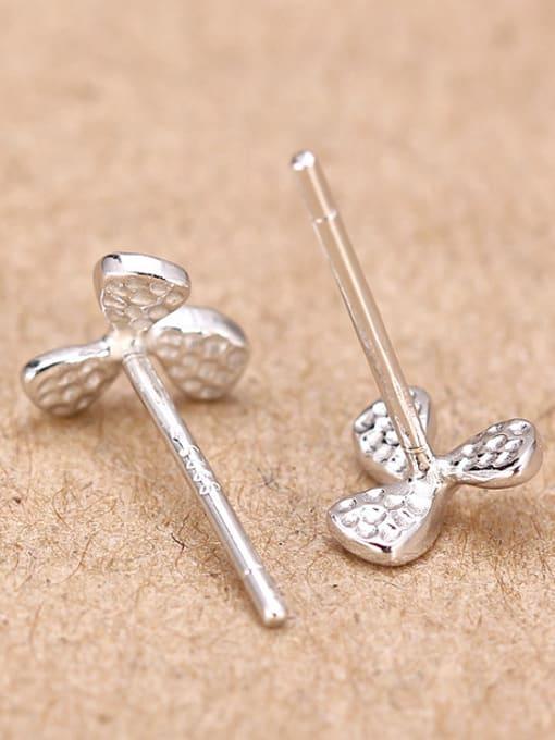Peng Yuan Simple Clover Silver stud Earring 2