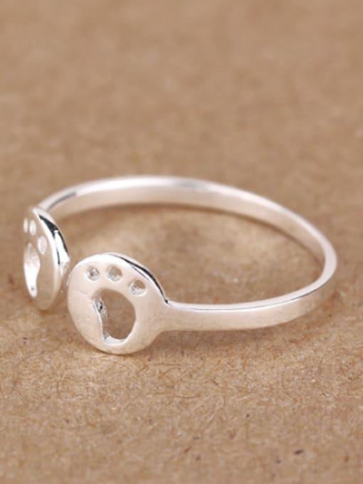 Peng Yuan Tiny Footprint Silver Opening Midi Ring 1