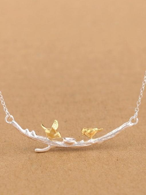 Peng Yuan Personalized Little Birds Branch Necklace 2