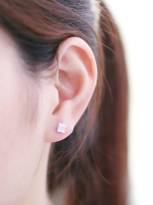 Peng Yuan Simple Tiny Square stud Earring 1