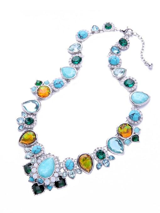 KM Shining Irregular Stones Women Necklace 2