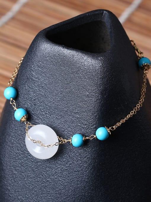 SILVER MI White Jade Fashion Women Bracelet 2