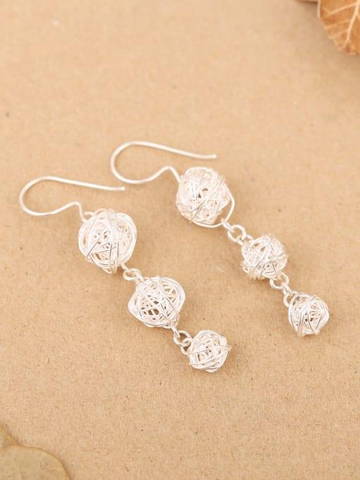 Peng Yuan Elegant Handmade Sterling Silver hook earring 0