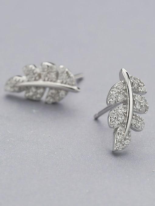 White 925 Silver Maple Leaf Earrings
