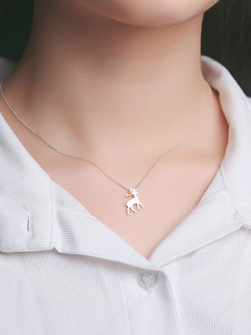 Peng Yuan Fashion Mini-deer Silver Necklace 1