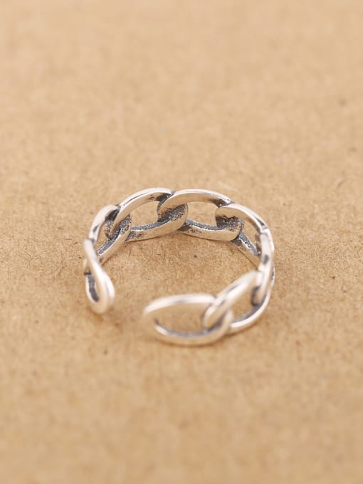 Peng Yuan Fashion Woven Chain Opening Ring 3