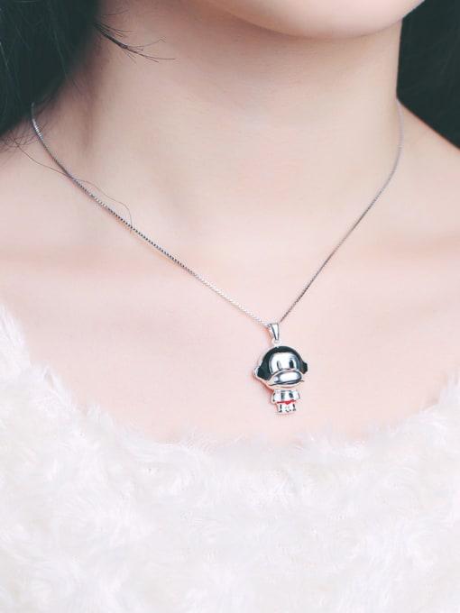Peng Yuan Lovely Little Monkey Silver Pendant 1