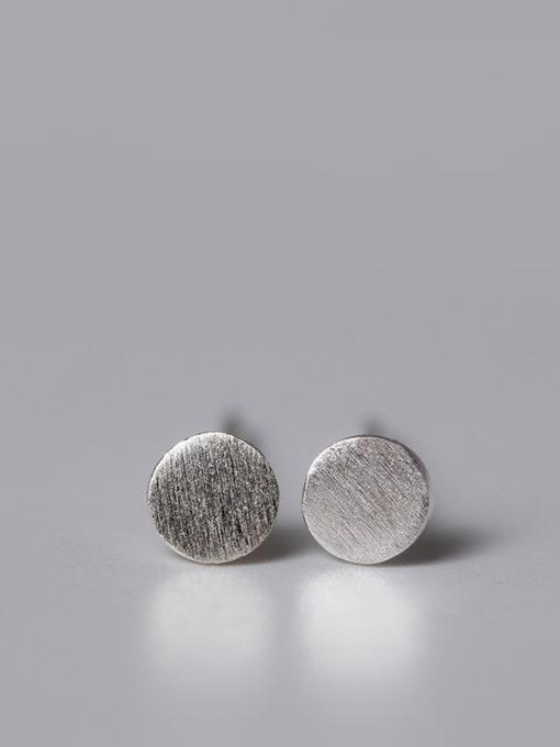 SILVER MI Lovely Geometric Small Stud Earrings 3