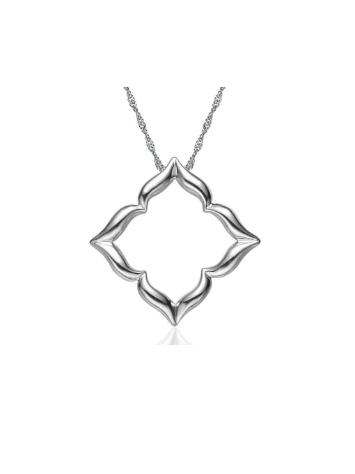 One Silver 925 Silver Platinum Plated Pendant