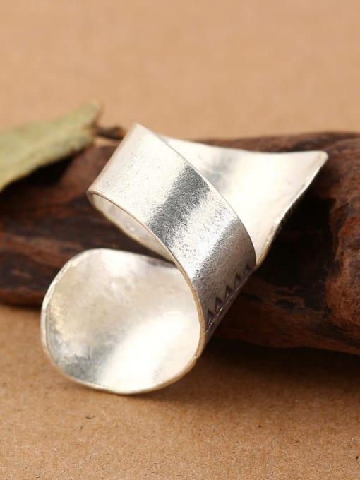 Peng Yuan Personalized Retro Silver Handmade Ring 1
