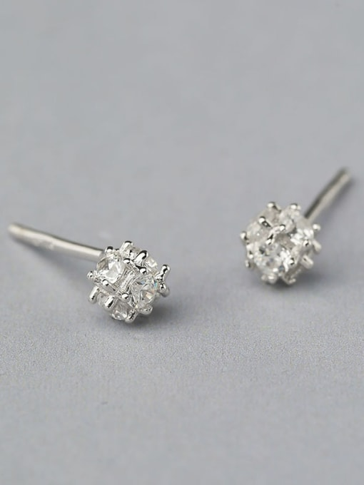One Silver 925 Silver Multi Corner Shaped cuff earring 2